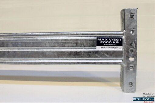 EUS reolbjælke varmgalvaniseret 1850x100mm