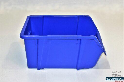 Plukkasse i blå plast 355x230mm