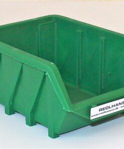 Plukkasse grøn plast model 170x115x75mm
