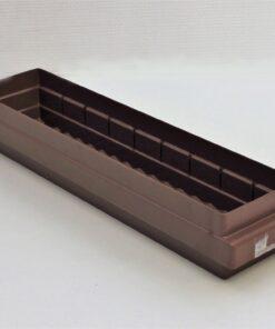 brun plastkasse 500x115x80mm