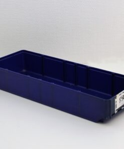 Blå plastkasse 500x180x80mm