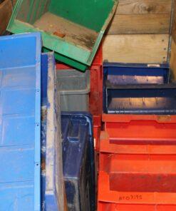 Brugte assorterede plastkasser ca. 18 stk.