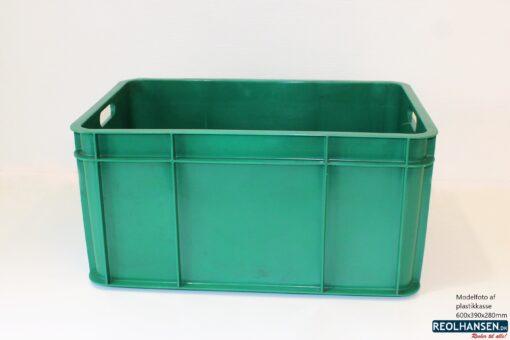 grøn plastkasse 600x390x280mm