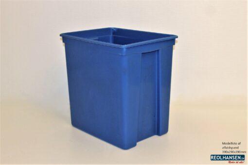 Blå affaldsspand 390x290x390mm