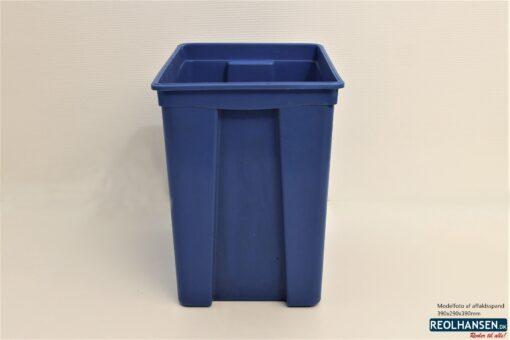 Blå affaldsspand