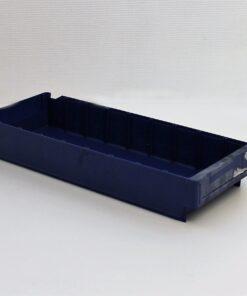 Blå plastkasse 490x190x80mm