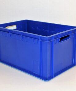 Blå plastkasse 600x390x300mm