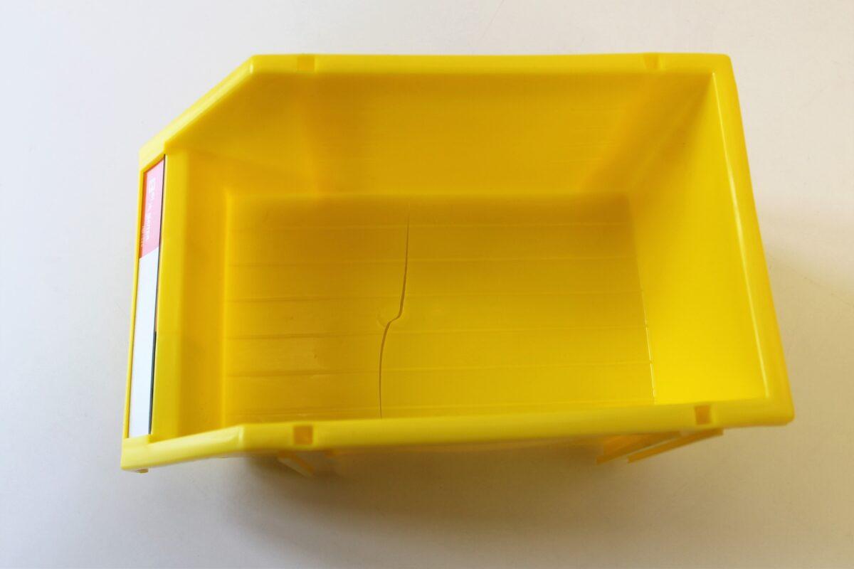 defekt gul plukkasse 120x180x80mm