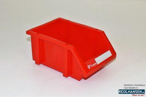 Plukkasse rød plast 120x180x80mm