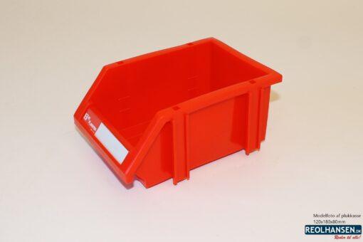 Rød plukkasse 120x180x80mm