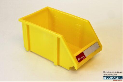 Plukkasse i gul plast 150x255x120mm