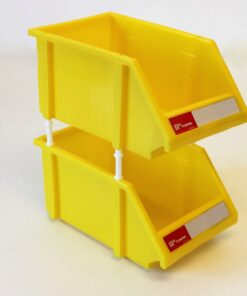 2 gule plukkasser med mellemstykker