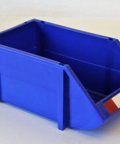 Plukkasse i blå plast 205x355x155mm
