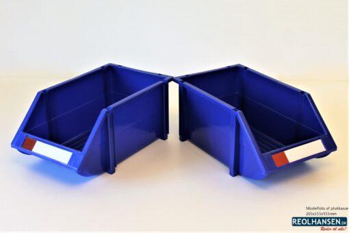 2 blå plukkasser 205x355x155mm