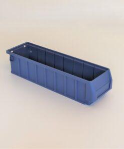 kasse i blå plast på 390x115x90mm