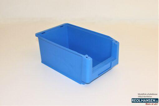 Lys blå plukkasse 350x210x150mm