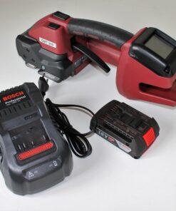 Håndapparat til plastbånd med batteri og lader
