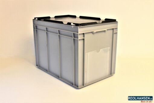 Opbevaringskasse med låg på 600x400x450mm