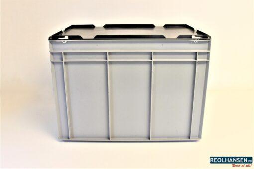 Opbevaringskasse med låg og lomme
