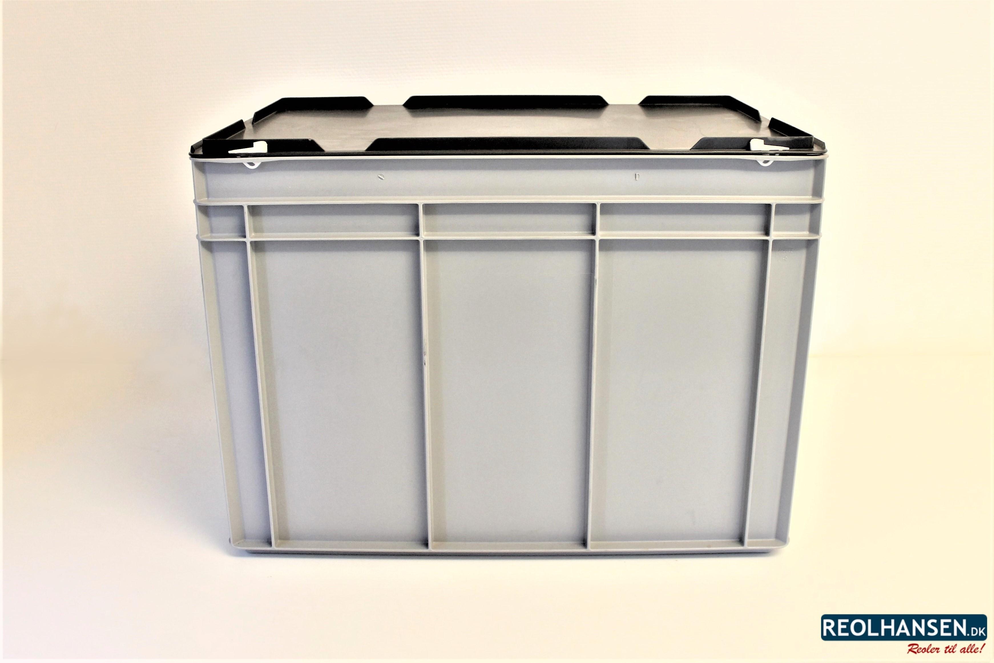 Picture of: Opbevaringskasse I Plast Med Lag 600x400x450mm Reolhansen