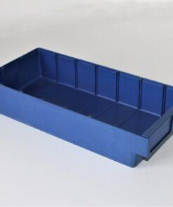Blå plastkasse på 395x185x80mm
